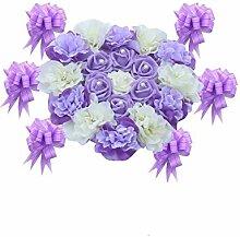 WINOMO Hochzeit Auto Deko Blumen Girlande für