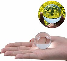 WINOMO Kristallkugel Glaskugel Klar für Feng Shui