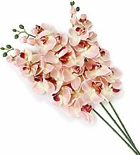 WINOMO Künstliche Blume Pflanze Schmetterling Orchidee Home Dekoration (rosa)