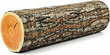 winomo Log Kissen Zylinder Holz Log Trunk Form