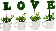 WINOMO LOVE Mini Künstliche Pflanzen Set Kleine