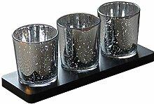 WINOMO Mercury Glas Votiv Kerzenhalter Teelicht