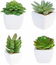 WINOMO Pflanzen Künstliche succulentes Topf Mini