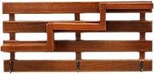 WINOMO Retro Holzwand Regal mit 3 Schlüssel Haken