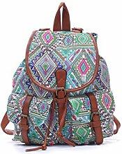 winomo -Rucksack aus Segeltuch, für Mädchen und