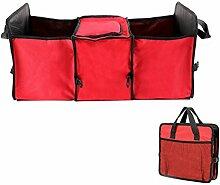 WINOMO Trunk Storage Organizer Aufbewahrungsbeutel Multipurpose Tidy Großer Cace (Rot)