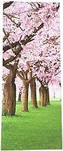 WINOMO Türtapete Selbstklebende 3D Tür Aufkleber für Home Dekoration Kirschblüten Design 77x200cm