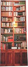 WINOMO Vintage Bücherregal 3D Tür Aufkleber