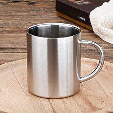Winpavo Becher Kaffeetassen Tassen Edelstahlbecher