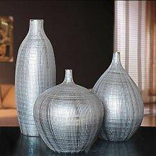 Winpavo Dekoartikel Skulpturen Silberne Vasen