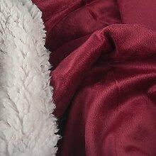 Winter Bettwäsche Set 2tlg 155x220 kuschelig Lammfell Sherpa Optik Nicki Uni Lamm Fell Wende Bettwäsche Bettbezug Bettgarnitur flauschig mollig warm CelinaTex 5000136 Fantasia Sandy ro