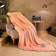 Winter Decke doppelt solide Decke verdickt und einfach normales Kaschmir-decke, 150cmx200cm, Pink