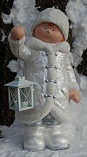 Winter Dekofigur Junge mit Laterne - Weihnachten,