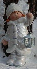 Winter Dekofigur Mädchen mit Laterne -