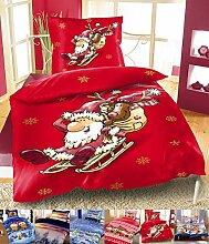 Winter Flausch Bettwäsche Weihnachten Motive