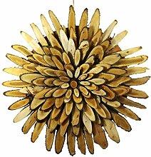 Winter Flora Schneiden, Durchmesser: 56 cm, Holz, zum Aufhängen, naturfarben