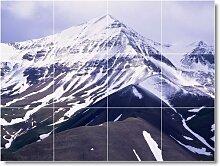 Winter Foto Badezimmer Fliesen Wandbild W044. 61x 81,3cm mit (12) 8x 8Keramik Fliesen.