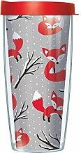 Winter Fox Wrap Traveler Becher mit Deckel, 473 ml