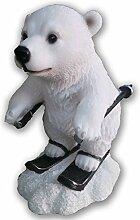 Winter Fun Eisbären Snowboarden, Eislaufen sehr detailliert tolle Geschenkidee
