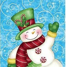 Winter Greetings Kunststoff Tischdecke
