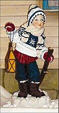 Winterkind mit Laterne - Kinderfiguren -
