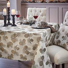 Winterliche Tischdecke mit Zapfen im modernen