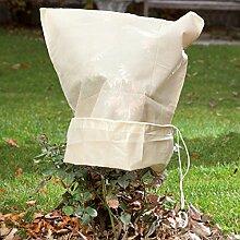 Winterschutz Kübelpflanzensack Spezial 2 Stück 50 g, ca. 60x80 cm - aus hochwertigem Vlies - mit Zugband und Reißverschluss - Kölle's Beste