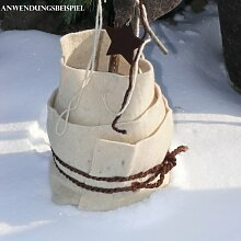 Winterschutz Schafwollmatte - wollweiß - ca. 50x150 cm - aus 100% Schafwolle - natürlicher und nachhaltiger Winterschutz für Kübel, Töpfe und Pflanzenwurzeln