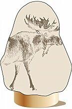 Winterschutz Vlieshaube Elch Vintage - beige-braun - ca. 110x110 cm - Winterschutz für Pflanzen - dekorativer Pflanzenschutz im Winter