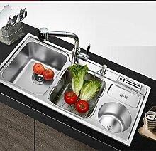 WINZSC Küche 304 Edelstahl verdickt mit