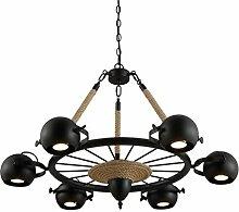 WINZSC LOFT Seil 6 Köpfe Pendelleuchten Lampe Bar