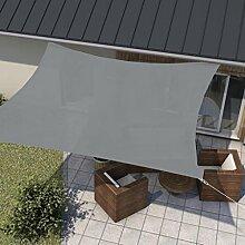 wip Sonnensegel grau 5x5m Quadrat HDPE 185g/m²