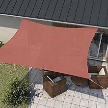 wip Sonnensegel rot 5x5m Quadrat HDPE 185g/m² Sonnenschutz Beschattung für Terrasse
