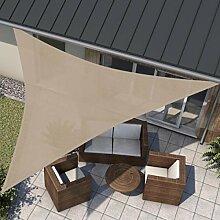 wip Sonnensegel sand 5x5x5m Dreieck HDPE 185g/m² Sonnenschutz Beschattung für Terrasse