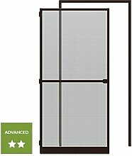 wip Sparset: 1 Alu-Insektenschutztür 120x240cm + 1 Klemmzarge 125x245cm braun
