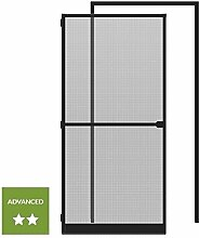 wip Sparset: 1 Alu-Insektenschutztür 120x240cm + 1 Klemmzarge 125x245cm anthrazi