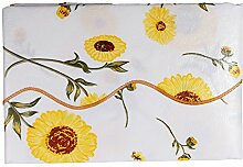 Wipe Clean PVC Vinyl Tablecloth Dining Kitchen flower Table Cover Protector Style SH1 Size S