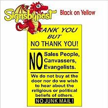 """Wir nicht kaufen oder verkaufen bei Türschild aluminium, PVC oder-Vinyl-Aufkleber 9143 Foamalux 3 mm 20cm x 30cm approx 8"""" x 12"""" Foamalux 3mm Schwarz auf Gelb"""