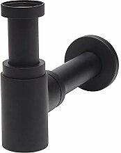 Wirquin - Design Siphon Messing schwarz matt