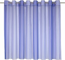 Wirth Gardine nach Maß Eloise 105 cm, Ösen blau