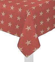Wirth Tischdecke mit Kuvertsaum, Tischwäsche Tischläufer Tischtuch 1er Pack, Design: FELINO, Fb: rot, Größe: 85x85 cm