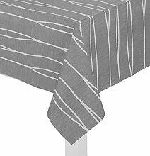 Wirth Tischdecke mit Kuvertsaum, Tischwäsche Tischläufer Tischtuch 1er Pack, Design: DALLAS, Fb: schwarz, Größe: 130x160 cm