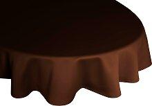 Wirth Tischdecke NEWBURY, rund Ø 160 cm braun