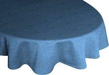 Wirth Tischdecke WIESSEE, rund Ø 160 cm, blau