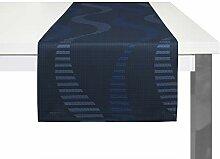 Wirth Tischläufer Lupara, Polyester, Blau, 40 x