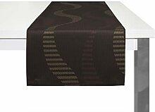 Wirth Tischläufer Lupara, Polyester, Braun, 40 x