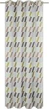 Wirth Vorhang Bray 145 cm, Ösen, 132 cm grün