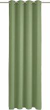 Wirth Vorhang Dim out 150 cm, Ösen, 145 cm grün