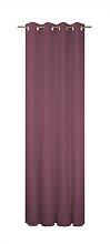 Wirth Vorhang Felsted 150 cm, Ösen, 132 cm rot