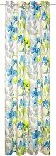 Wirth Vorhang VIGNOLA 150 cm, Ösen, 135 cm blau